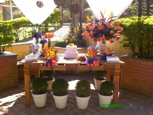 Mesa de Bolo Decorada para Casamento 20 Fotos