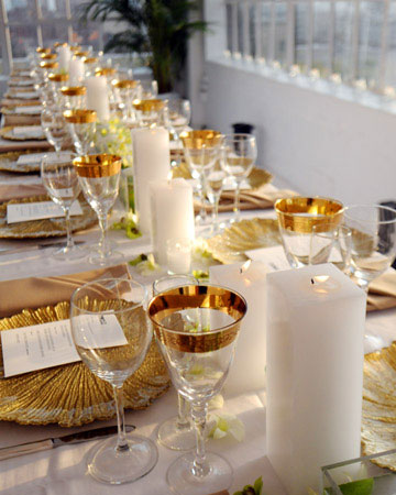 decoração-casamento-dourado