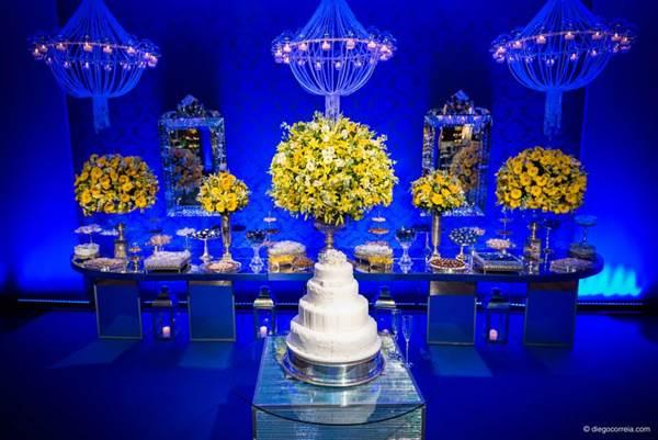 Psiu Noiva - Paleta de Cores - Azul Royal e Amarelo