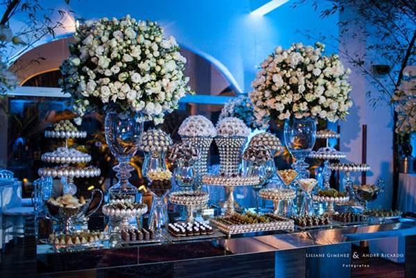 Decoração de casamento azul