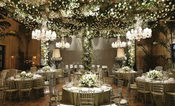 Casamento com Decoração Verde