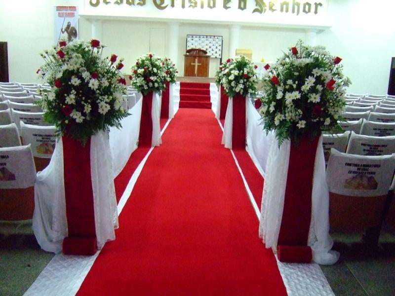 Decorao de casamento na igreja simples e barato Festa de