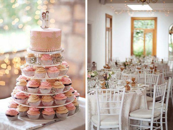 35 Mesas de casamento decoradas com cupcakes