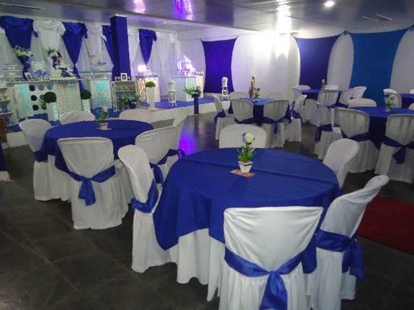 Casamento azul e branco u2013 Fotos de Casamentos # Enfeites De Mesa Para Casamento Azul E Branco
