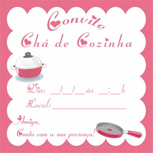 Convite Chá de Cozinha